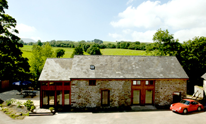 Outside view of Happy Horse Cottages